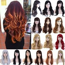 Wigs Long Curly Straight Cosplay Costume Party Fancy Dress Hot Sexy Natural Look