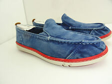 Timberland Earthkeepers Junior Boys Slip On Royal Blue Washed Canvas Boat Shoe
