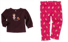 """NEW Gymboree Sz.5T """"PUPS & KISSES"""" PlumTop w/ Girl & Dog and Red Yorkie Leggin"""