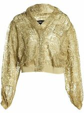 Damir Doma Juso Cropped Bomber Gold