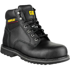 Caterpillar Mens Electric 6 Inch Leather Work Safety Boots Black