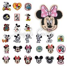 Cartoon Minnie Mickey Mouse Embroidered Patch Iron On Sew Applique Accessory