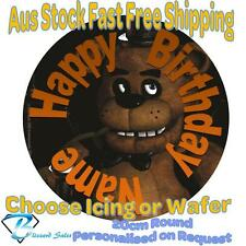 20cm Round Five Nights Edible Image Icing or Wafer Cake Topper Kids Birthday