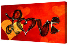 Love Word Red Heart Home Decor LARGE Box Canvas Art Picture Wall Hanging Print