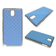 RHINESTONE DIAMANTE GEM HARDBACK CASE LIGHT BLUE SAMSUNG GALAXY NOTE 3 GT N9000