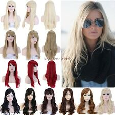 Long Curly Straight Full Wigs Cosplay Party Fancy Dress Elegant Women Lady Hair
