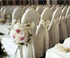 150 Polyester Banquet Chair Covers Wedding Reception Party Decorations 3 Colors!