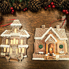Gingerbread House Christmas Tree Decorations (15cm)