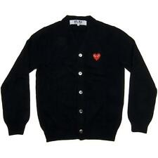 "NEWCardigans CDG Comme des Garcons ""PLAY"" Sweater coat Black Red Heart Overcoat"