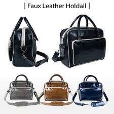 PU Leather Bag Sports Gym Travel Golf Luggage Holdall Weekend Duffle NEW 30Litre