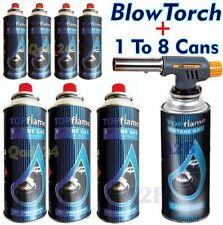 Blow Torch + Butane Gas Cans Flamethrower One Touch Auto Ignition Soldering BBQ