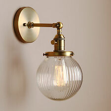 """5.9"""" Fringe Globe Clear Glass Shade Retro Industrial Wall Light Wall Lamp Sconce"""