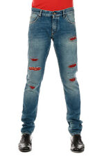 DOLCE&GABBANA New Men Blue Destroyed Denim Jeans Pants Made in Italy NWT