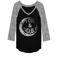Lost Gods Halloween Toil and Trouble Girls Graphic T Shirt