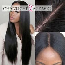 Indian Remy Human Hair Lace Front/Full Lace Wigs Black Women Silky Straight Wig