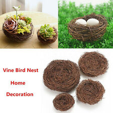 Handmade Vine Brown Bird Nest House Home Nature Craft Holiday Decoration nho