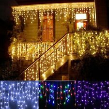 3.5M 96LED Window Curtain Icicle Lights String Fairy Light Wedding Party Xmas