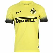 Nike Inter Milan 3rd Jersey 2015 2016 Juniors Yellow/Black Shirt Football Soccer