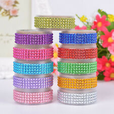 1Roll Self-Adhesive Rhinestones Tape Scrapbooking Crafts Crystal Stickers Tapes
