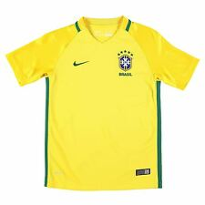 Nike Brazil Home Jersey 2016 Juniors Yellow/Green Football Soccer Top Shirt