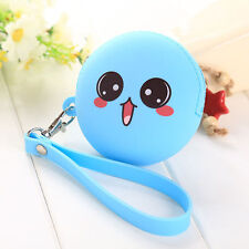 New Cute Big Eyes Cartoon Silicone Key Holder Coin Purse Bag Wallet Pouch Holder