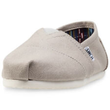Toms Classic Womens Slip On Light Grey New Shoes