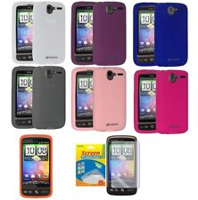 AMZER Silicone Skin Case Gel Cover for HTC Desire + xtra Case/ Screen Protector