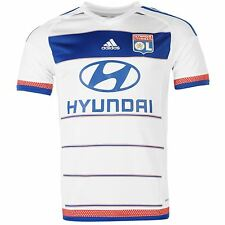 Adidas Olympique Lyon Home Jersey 2015 2016 Mens White/Royal Football Soccer Top