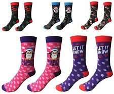 Ladies/Mens Christmas Socks Novelty Socks Stocking Filler Xmas Gift Pack Of 3