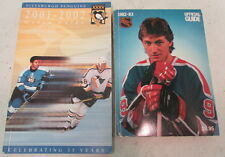 1982 - 1983 NHL Official Guide & 2001 - 2002 Pittsburgh Penguins Media Guide