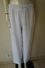 Hot Cotton by Marc Ware Elastic Drawstring Cotton Sweat Pants White NEW  M L XL
