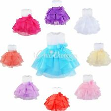 Kids Baby Girls Summer Dress Organza Bowknot Wedding Party Princess Tutu Dress