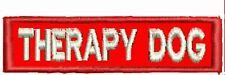 Therapy Alert Patch Service Dog Patch Straight Working Dog Patch Red White Black