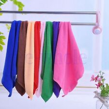 "1Pc New Microfiber Cleaning Hand Wash Towels Rags Kitchen Small Cloth 9""×9"" BE"