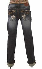 Rocker Style Low Rise Jeans Adiktd studded cross