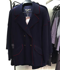 ZARA MILITARY PIPED THREE QUARTER LENGTH JACKET NAVY BLUE XS-XL REF. 1255/234