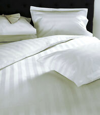 1000TC Egyptian Cotton DUVET COVER Pearl  White Stripe