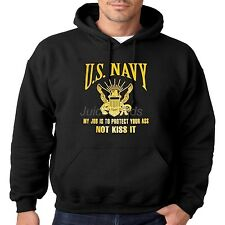 US Navy Hoodie My Job Is To Protect Your Ass Not Kiss It Seal Mens Pull Over