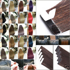 "2017 grade 8A Natural Remy Tape In human Hair Extension Optional 16""-18""-24""-26"""