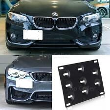 Tow Hook License Plate Mounting Bracket Relocate Adapter for BMW E88 E91 E91