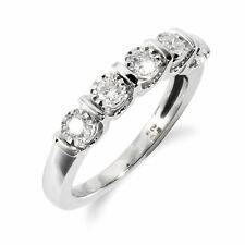 Gemondo 18ct White Gold 0.30ct Diamond Half Eternity Ring