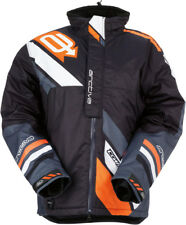 Arctiva Mens Black/Orange Comp Insulated Snowmobile Jacket