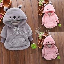 Baby Girls Kids Clothes Fleece Warm Outerwear Pullover Hooded Coat Winter Jacket