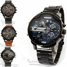 Luxury Mens Watch Big Case Dial Stainless Steel Strap Date Wrist Watches Gift