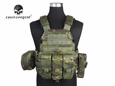 Airsoft Hunting Vest Emerson LBT6094A Style Plate Carrier Vest w/ 3 Pouches MCTP