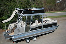 2015 -New triple tube  25 ft Vista Entertainer pontoon boat with slide- hpp tube