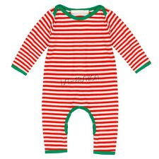 Infant Baby Toddler Short Sleeve Christmas Striped Romper SZ 6-24 Months