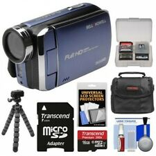 Bell & Howell DV30HD 1080p HD Video Camera Camcorder (Blue) with 16GB Card + Cas