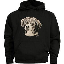 Beagle dog breed sweatshirt Men's size sweat shirt black hoodie gift dog lovers