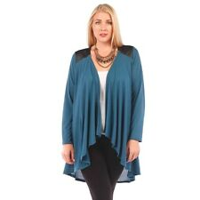New Women's Plus Size Teal Knit Open Cardigan (Sweater) Sizes 1X 2X 3X 4X 5X 6X